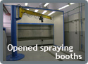 Opened spraying booths