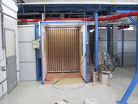 Spray booths with open front section - with dry filtration system